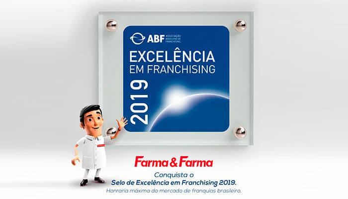 Franquia de Farmácia Farma & Farma selo de excelencia