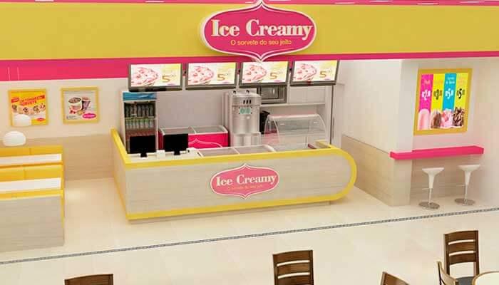Franquias de verão - Ice Creamy Sorvetes