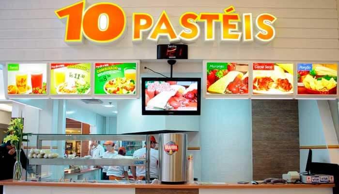 Ótimas franquias de alimentação - 10 Pastéis