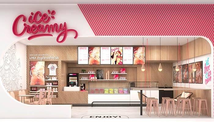 franquias de sorveteria - ice creamy