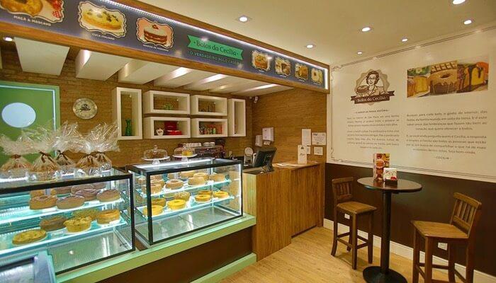 Franquia de bolo, mostra a loja Bolos da Cecília