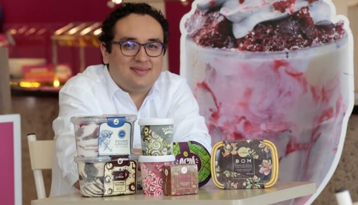 Tiago da Gela Boca, dono da franquia de supermercado de sorvete