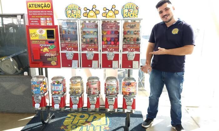 Microfranquia em Goiânia faz sucesso com vending machines
