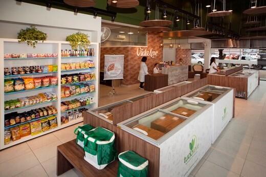 loja da franquia de alimentação saudável Vida Leve